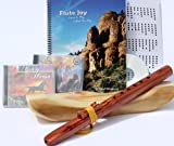 Windpony Key of High C, 6-Hole Cedar Native American Style Flute, Book & 3 CDs Starter Set (Retail Value $129.95) - Books and CDs