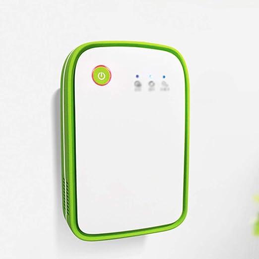 BJYXSZD Filtro de Aire Does, portátil purificador de Aire para el hogar ionizador de Aire ambientador de Aire ionizador de Quitar el Polvo Anti-alérgenos, Reduce los olores y Gases,Green: Amazon.es: Hogar