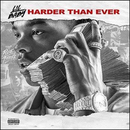 United Mart Poster Album Cover Poster Thick Lil Baby: Harder Than Ever Music Poster 12x18 Inch Rolled Poster