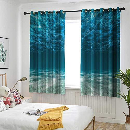 Beihai1Sun Ocean Sliding Door Curtain Gravelly Bottom Wavy Surface Tropical Seascape Abyss Underwater Sunny Day Image Simple Stylish W 72