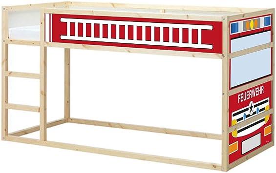 Limmaland Xxl Fire Engine Sticker Suitable For Ikea Kura Bunk Bed Furniture Not Included Amazon De Spielzeug