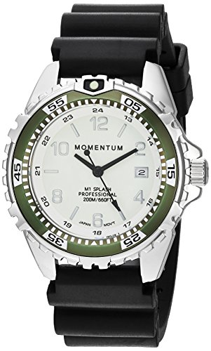 Women's Quartz Watch | M1 Splash by Momentum| Stainless Steel Watches for Women | Dive Watch with Japanese Movement & Analog Display | Water Resistant ladies watch with Date –Lume  / Khaki Rubber