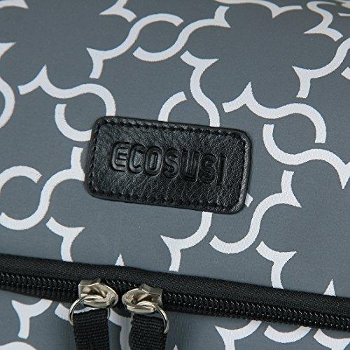 Ecosusi- Juego de bolsa cambiador con 5 piezas y cambiador acolchado Gray printing Talla:L Gray printing