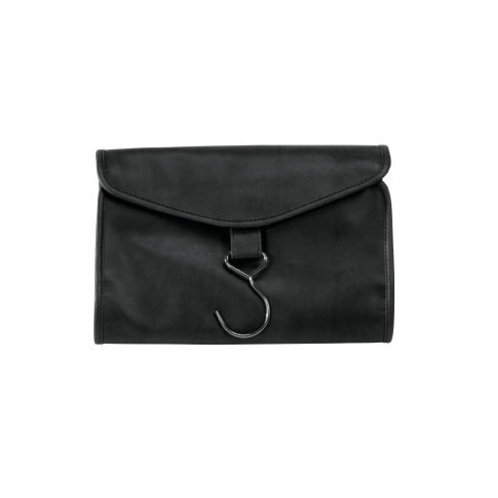 Royce Leather Hanging Toiletry Bag (Black)