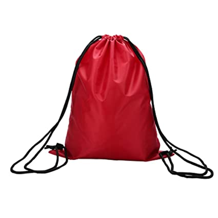 517c8989b5 Image Unavailable. Image not available for. Color  PANDA SUPERSTORE Sports  Drawstring Backpacks  Red  Set of 2 Waterproof Backpacks String Bags