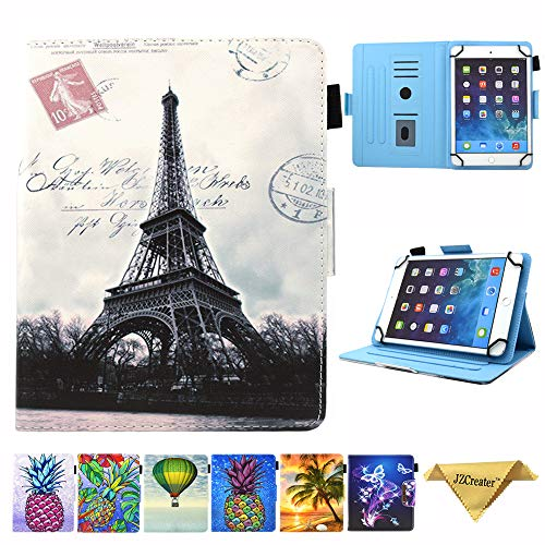 9.5-10.5 inch Tablet Universal Case, JZCreater Synthetic Leather Case Cover for Apple iPad Air,New iPad 5th/6th Gen, Samsung Galaxy Tab A 10.1/Tab E 9.6 and More 9.5-10.5inch Tablet, Paris Tower (Samsung Galaxy Tab 3 10.1 Best Price)