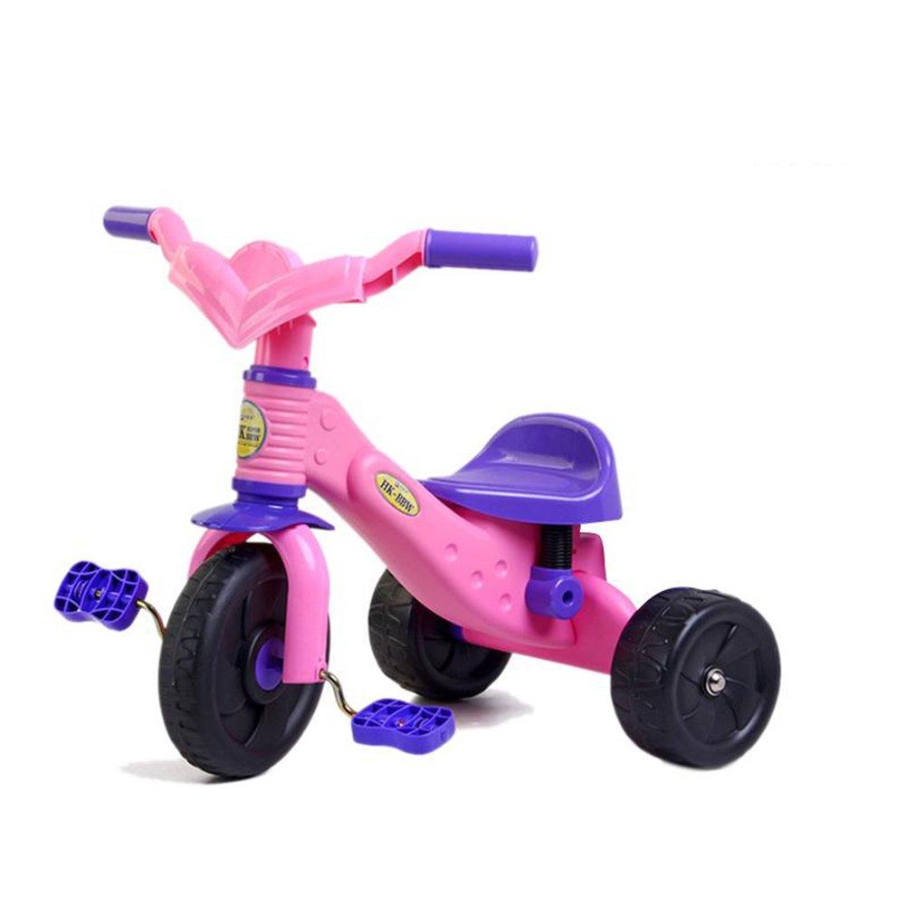 XQ 子供 軽量 EVA発泡ホイール 三輪車 1-3-5歳 子ども用自転車 ( 色 : Purple and pink ) B07CG66CJ3Purple and pink