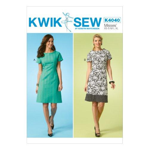 KWIK-SEW PATTERNS K4040 Misses' Dresses, All Sizes (Dress Waist Pattern)