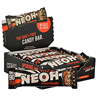 NEOH Low Carb Protein & Candy Bar - Keto Snack Low Sugar (1 Gram), 90 Calories, 8 Grams Protein (Chocolate Crunch 12-Pack)