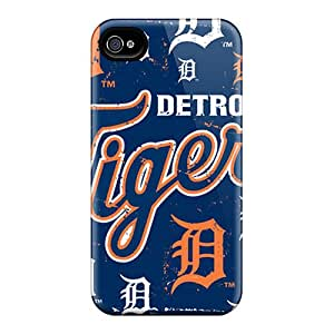 Durable Defender Case For Iphone 4/4s Tpu Cover(detroit Tigers)