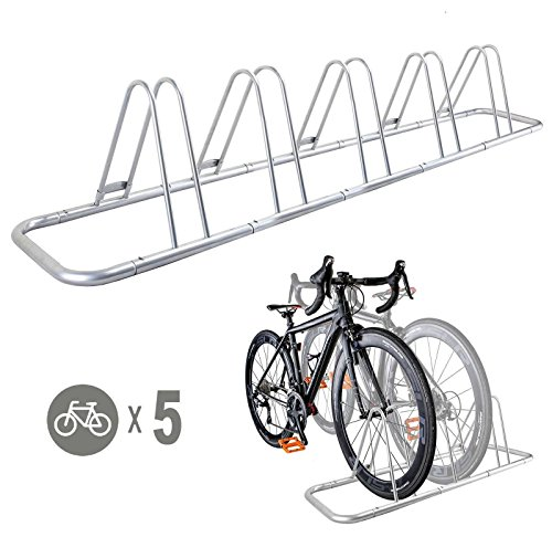 Bicycle Garage Stand - 5 Bike Bicycle Floor Parking Rack Storage Stand by CyclingDeal