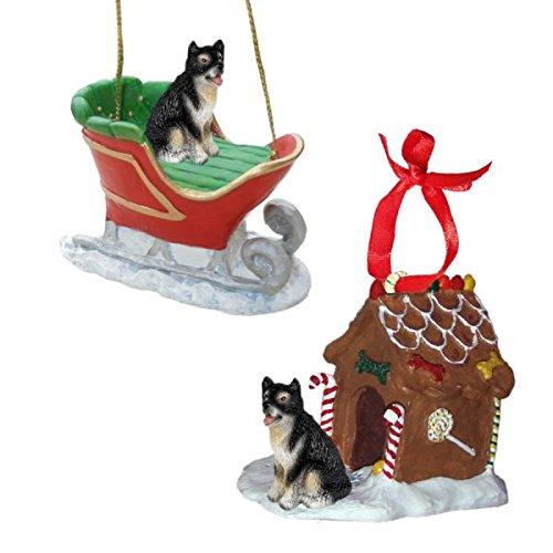 Alaskan Malamute Figurine Christmas Ornaments