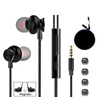 Wired Earbuds, in-Ear Wired Earbuds Running Headphones Stereo Earbuds Earphones Headset with Microphone and Volume Control for Workout Sports Jogging Gym with Carrying Case