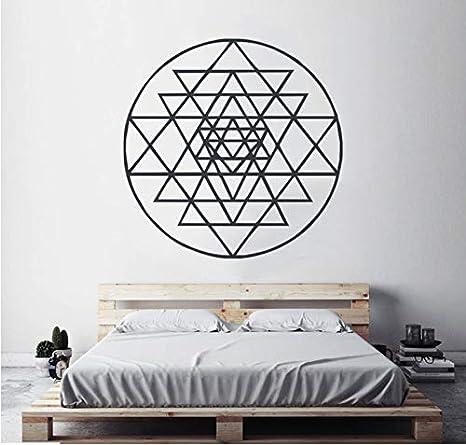 Geometría Wall Art Mural Sri Yantra Tatuajes de Pared ...
