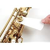 Woodwind Pad Cleaning Paper 80 sheets For Saxophone & Clarinet & Flute etc - Great solution for sticky pads