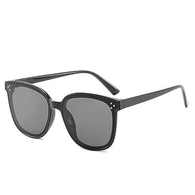 BHLTG Gafas de Sol para Dama Personalidad Moda protección UV Gafas de Sol Parejas Salvaje Caja Grande Gafas de Sol-3: Deportes y aire libre