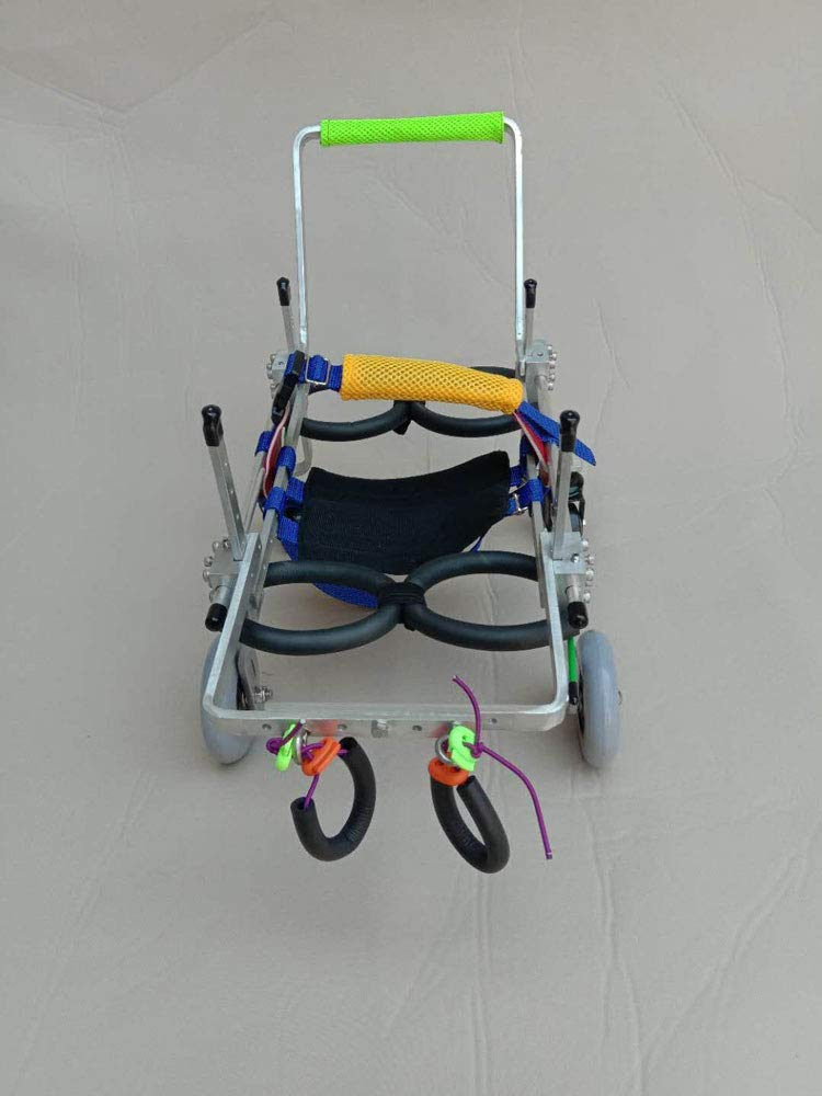 XS Dog cart, suitable for pets to practice limb disability and help walking, large small dogs, adjustable, 4 wheel 2 wheel conversion, 2 kg (4.4 lbs) 50 kg (110 lbs)