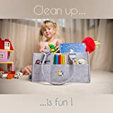 Baby Diaper Caddy and Toy Storage Organizer