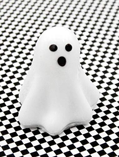 Spooky White Chocolate Glass Ghost Halloween Handmade Gift Home Table Décor Accent Apartment]()