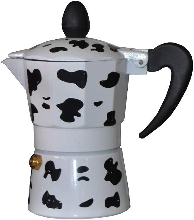 ducomi Cafetera espresso de Aluminio efecto Vaca – Moka Express con Mango atérmico para un Café Italiano Cremoso y Especial: Amazon.es: Hogar