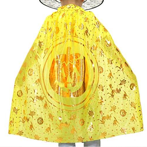 Gotd Halloween Children Cloak Masquerade Cos Props Small Devil Horns Gowns Pumpkin Lantern - Michael Cos