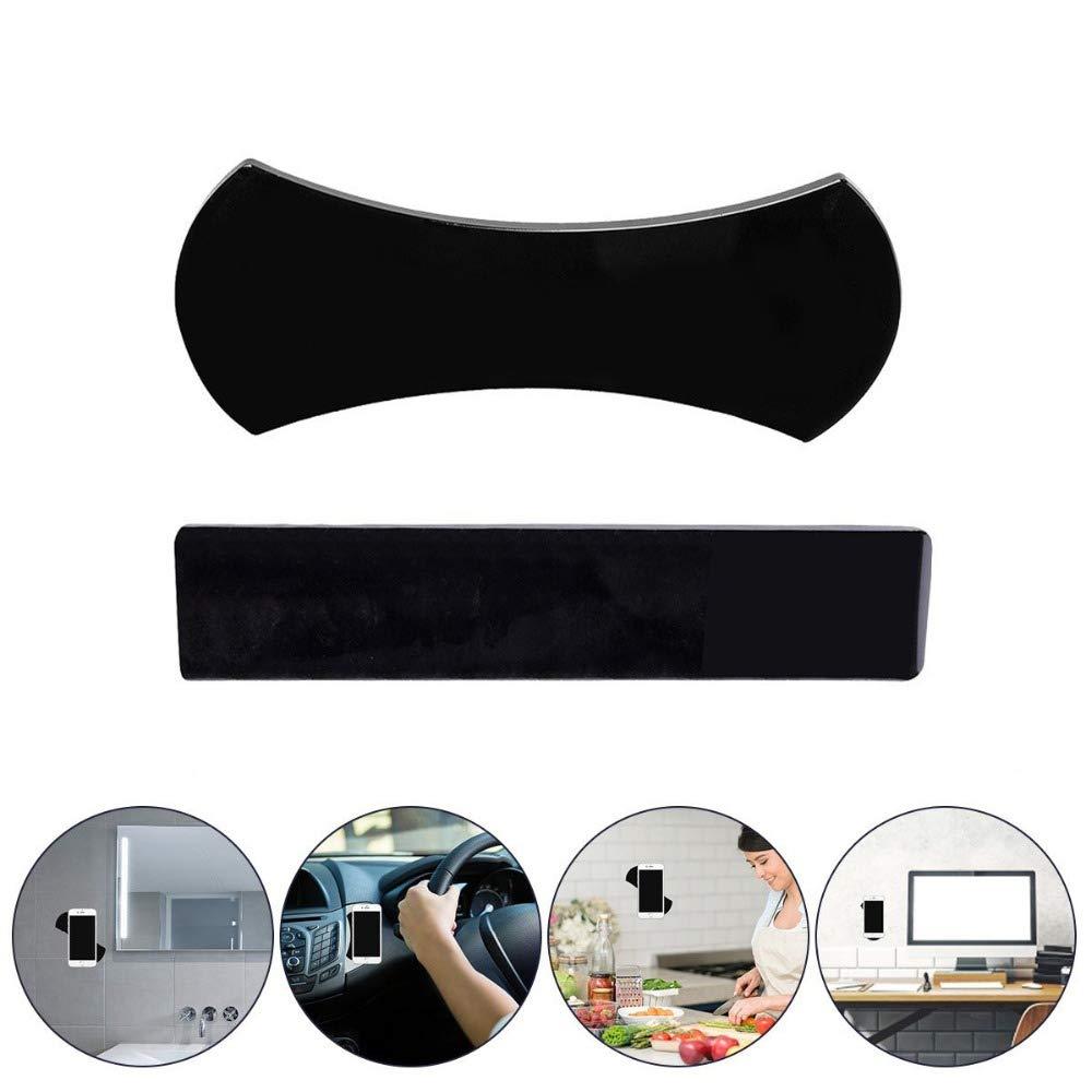 5558979512 Pack 2 NOFDA 2pcs Magic Nano Rubber Pad Anti Slip Mat Sticker No Trace Car Mobile Phone Holder Lazy Bracket Pods Sticky Gel Pad Wholesale