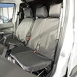 Black UK Custom Covers SC103B Tailored Heavy Duty Waterproof Front Seat Covers