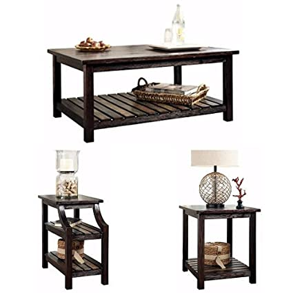 Ashley Furniture Signature Design   Mestler Living Room Table Set   Coffee  Table With Two End