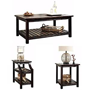 ... Living Room Table Sets  sc 1 st  Amazon.com & Amazon.com: Ashley Furniture Signature Design - Mestler Living Room ...