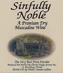 NV Florida Orange Groves Sinfully Noble DRY Muscadine Noble Fruit Wine 750 mL
