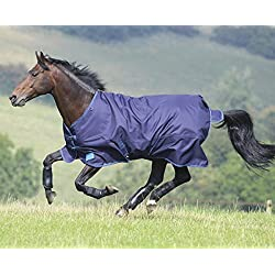 Shires Tempest Plus 200 Turnout Rug, Navy/Turquoise - 78