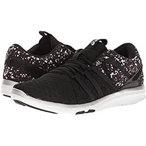 ASICS Women's Gel-Fit Yui Cross-Trainer Shoe, Black/Silver/White, 6 M US