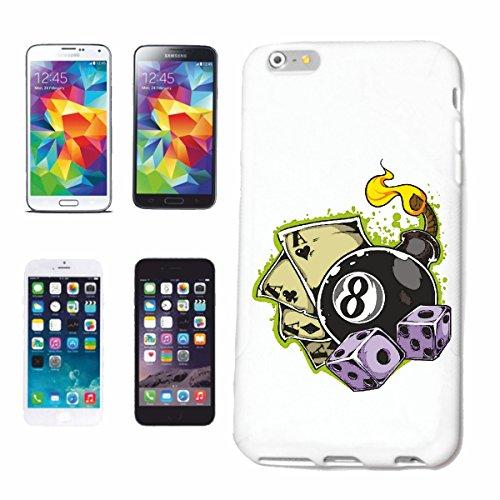 """cas de téléphone iPhone 7S """"Snoker BILLARD BILLES BILLARD Les Billards Table de billard Table QUEUE"""" Hard Case Cover Téléphone Covers Smart Cover pour Apple iPhone en blanc"""