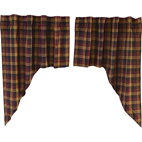 VHC Brands Primitive Kitchen Window Curtains-Heritage Farms