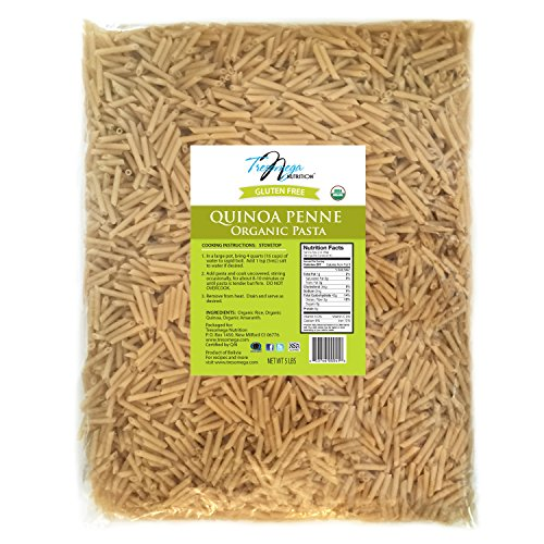 Tresomega Nutrition-Organic Quinoa Penne Pasta-Made with Organic Quinoa, Rice and Amaranth for A Meal High in Protein and Fiber-5 Pound Bag