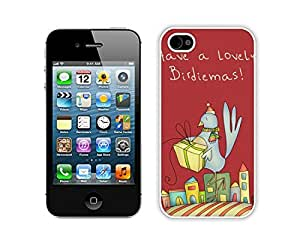 Design for Mass Customization Christmas Bird White iPhone 4 4S Case 2