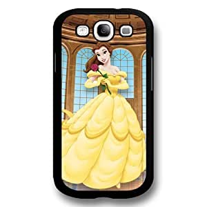 Disney Cartoon Beauty and The Beast, Hard Plastic Case for Samsung Galaxy S3 - Disney Princess Samsung S3 Case Cover - Black Kimberly Kurzendoerfer
