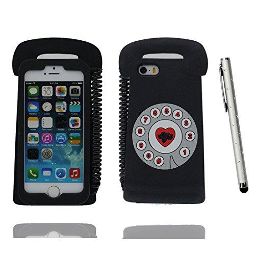 """Apple iPhone 6 Plus Coque (5.5""""), [ téléphone de matériau TPU souple ] iPhone 6s Plus étui (5.5 pouces), poussière glissement résistant aux rayures, iPhone 6 Plus Case et stylet"""