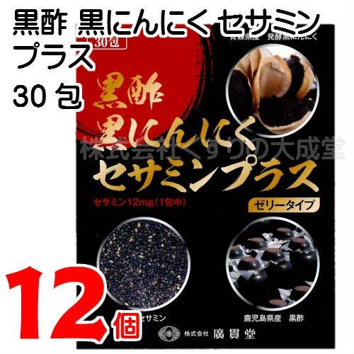 黒酢黒にんにくセサミンプラス 15g 30包 12個 ゼリータイプ B07F1MJFH6