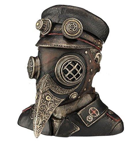 6 Steampunk Plague Doctor Bust Trinket Box Home Decor Statue Sculpture Figure