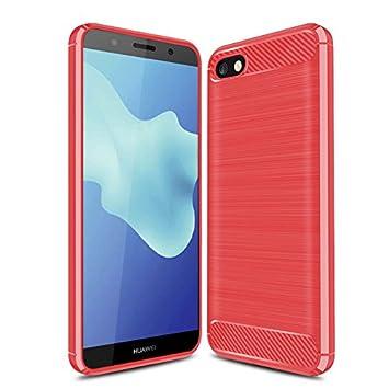GeeMai Huawei Y5 2018 Custodia, Huawei Y5 Prime 2018 Custodia, [Nero Soft Cover] Ultra Thin Silicone Custodia Soft TPU Custodia Protettiva Custodia Protettiva Cover per Huawei Y5 2018/Huawei Y5 Prime 2018 Custodia Smartphone