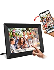 UCMDA Digital Photo Frame - 8 Inch Smart WiFi Cloud Digital Picture Frame with HD 1280x800 IPS Touch Screen Display, 16GB Storage, Auto-Rotate, Send Photos or Video Remotely Via App from Anywhere in The World (Black)