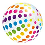 Intex Jumbo Inflatable 42' Giant Beach Ball - Crystal Clear with Translucent Dots - 59065EP / 2016