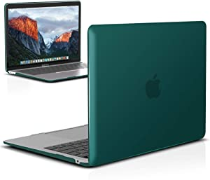 IBENZER MacBook Air 13 Inch Case 2020 2019 2018 New Version A2179 A1932, Hard Shell Case Cover for Apple Mac Air 13 Retina with Touch ID, Quezhal Green, MMA-T13QUGN