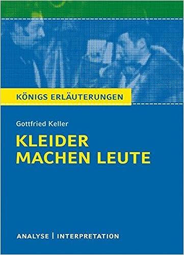 Amazon Fr Kleider Machen Leute Von Gottfried Keller Textanalyse