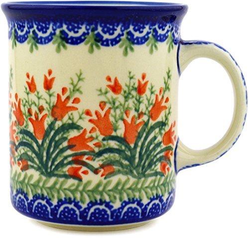 (Polish Pottery Coffee Tea Mug 10 oz (Sprouting Tulips))