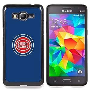 """Qstar Arte & diseño plástico duro Fundas Cover Cubre Hard Case Cover para Samsung Galaxy Grand Prime G530H / DS (Detroit Piston - Baloncesto"""")"""