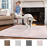 GORILLA GRIP Original Faux-Chinchilla Nursery Area Rug Carpet, (2.5' x 5'), Soft & Cozy High Pile Modern Rugs for Floor, Machine Washable Luxury Shag Carpets for Home Bed/Living Room (Light Pink)