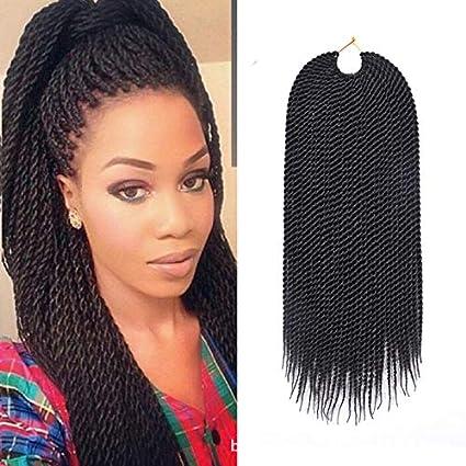 18 Senegalese Twist Crochet Braid Synthetic Kanekalon Hair Small Havana Mambo Braiding Twist Braids Hair Hairstyles For Black Women 80g 30roots Pack Black Amazon Co Uk Beauty