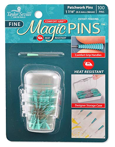 Taylor Seville Original 217238 Tailor Mate Magic Fine Patchwork 100pc Pins None 2 Pack